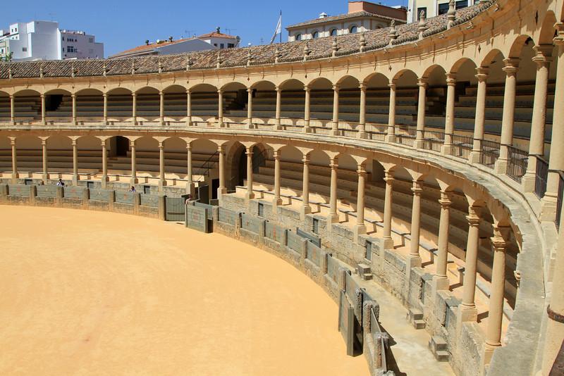 Interior of the old bullring at Ronda.