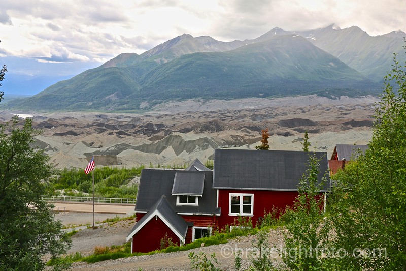 Kennecott Glacier from above Manages Office