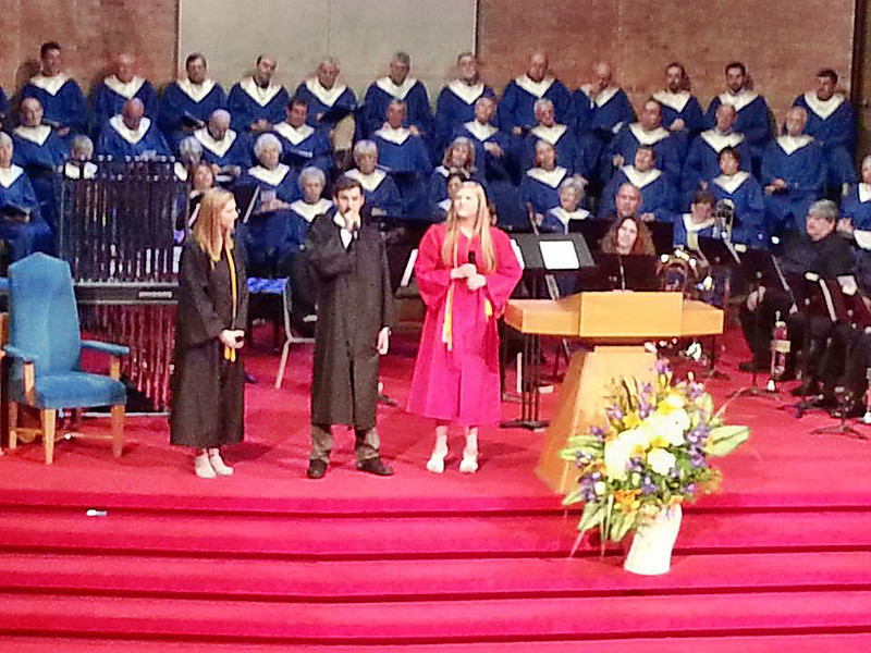 May 2013 - Corey Bradley Graduation Recognition Service at First Baptist Church Nashville TN