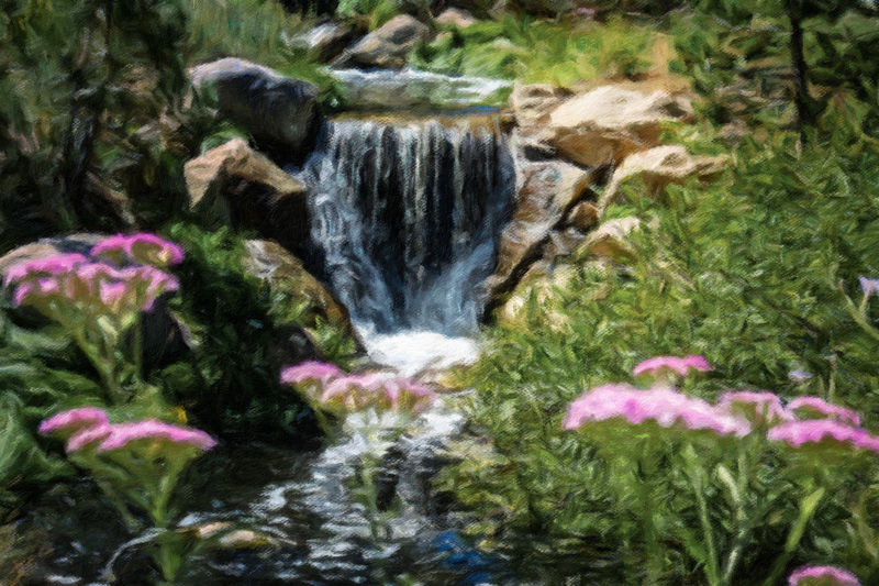 August 31 - Foliage, rocks and a waterfall, Mammoth Lakes, CA-1.jpg