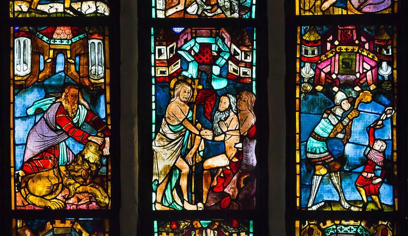 Christusf. I z9: Simson und der Löwe / Christus in Vorhölle / David und Goliath
