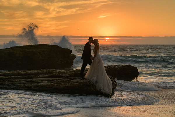 Aja and Ron - Panther Beach Bridal Portraits