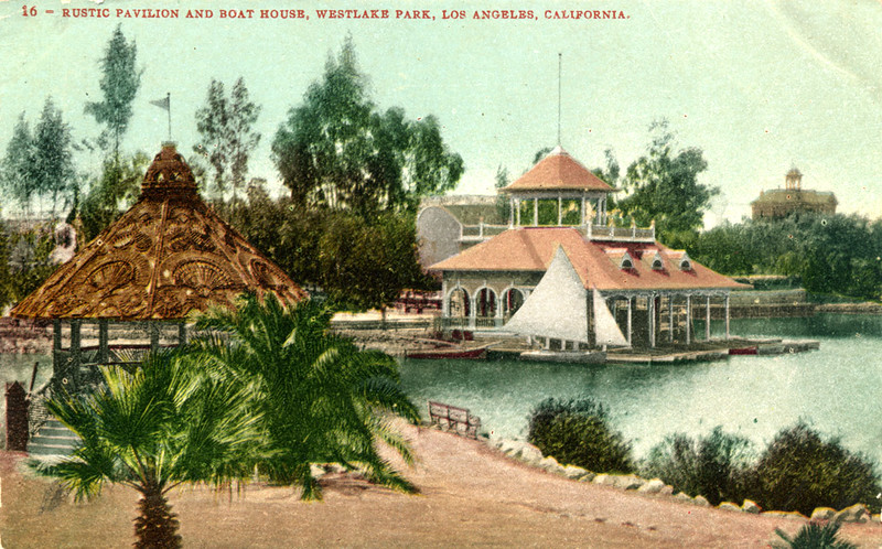 Rustic Pavilion and Boat House in Westlake Park