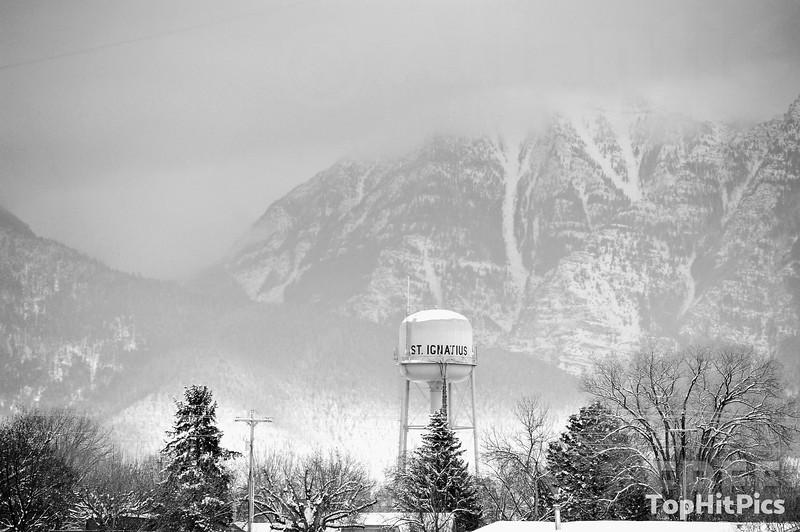 St Ignatius Water Tower, Montana, USA