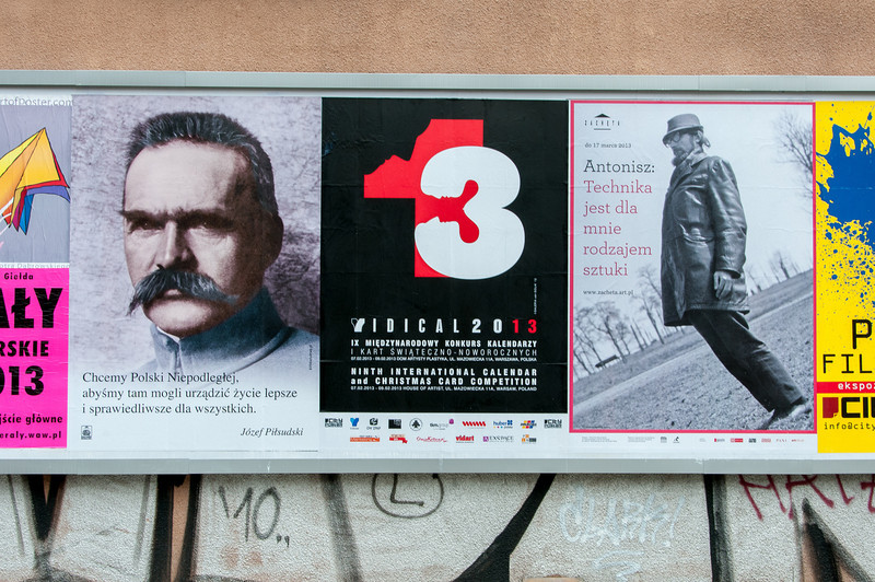 Posters and signages spotted in Warsaw, Poland