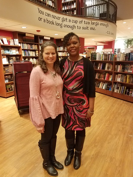 Me and author Kelly Starling Lyons at Quail Ridge Books