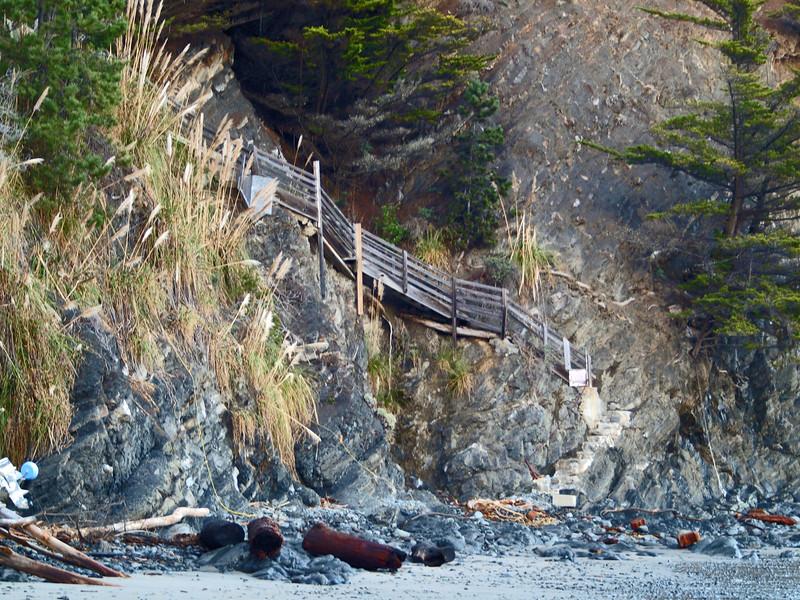 Stairway at Whale Watch Inn