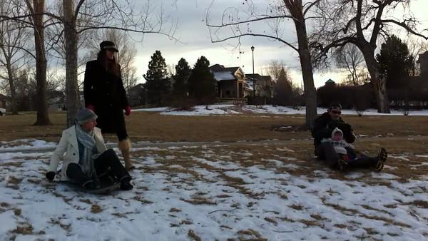 Sledding w/ Scott, Karen, Sylvia, & Elise