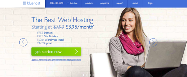 how to start a travel blog with bluehost