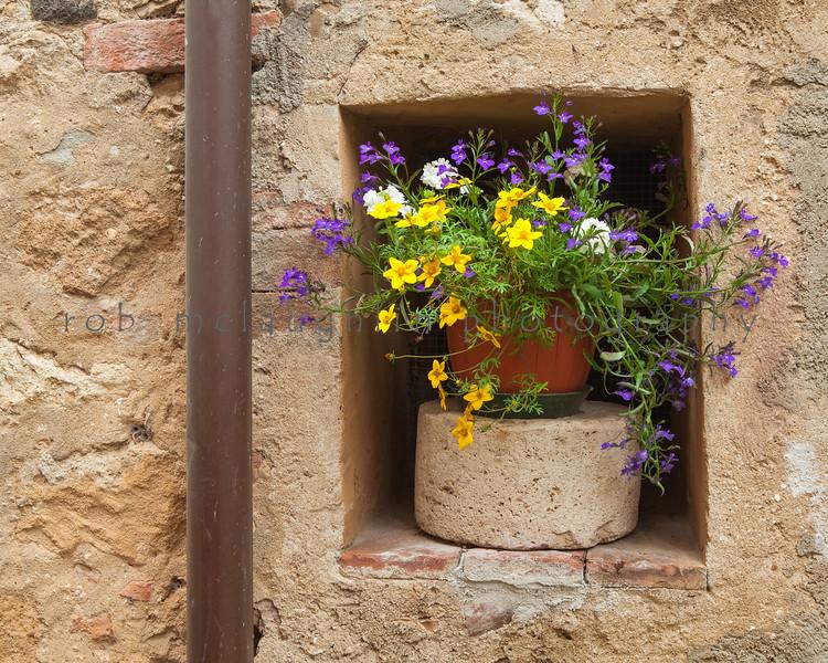 Alcove Flowerpot , Pienza , Tuscany
