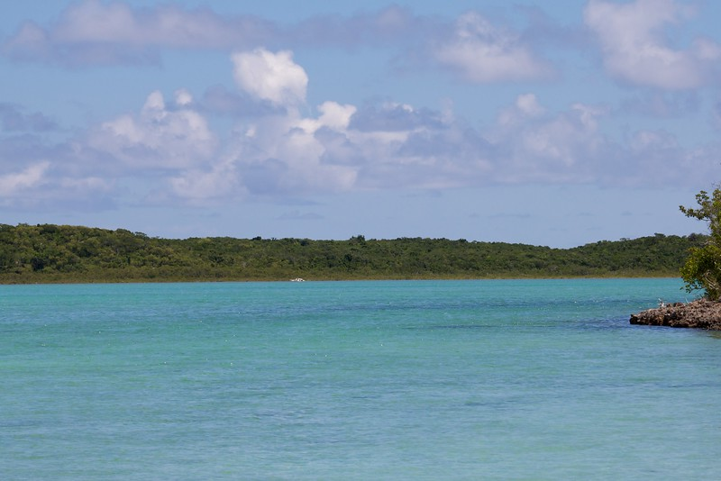 Looking over at the Long Island from the cay
