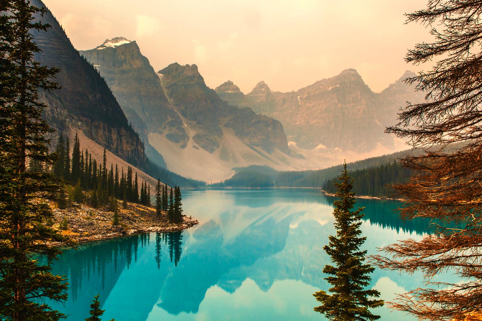 加拿大梦莲湖,美的令人窒息