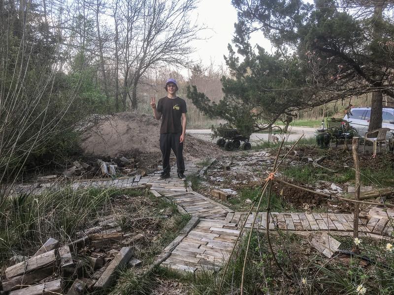The west garden path landscape engineer