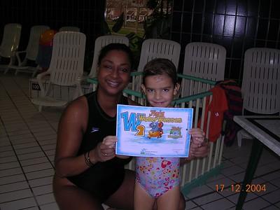 Afzwemmen Zoë dec 2004