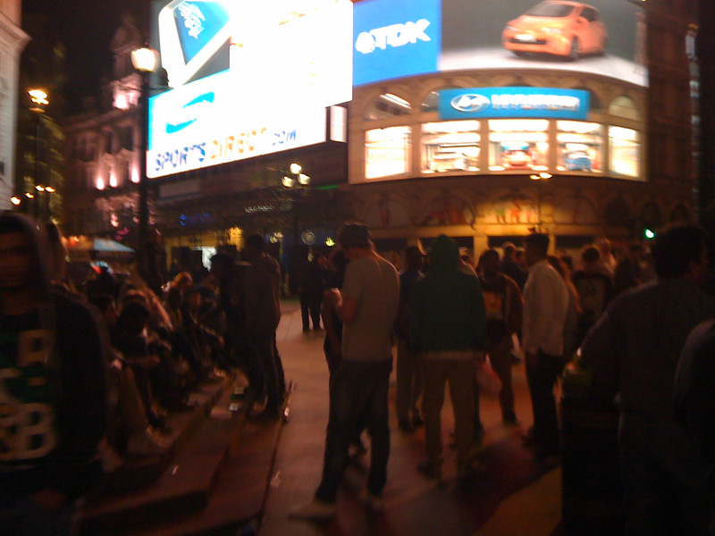 June 22/13 - In Piccadilly Circus after the Viva Forever! performance at Piccadilly Theatre (taken with 3G camera phone)