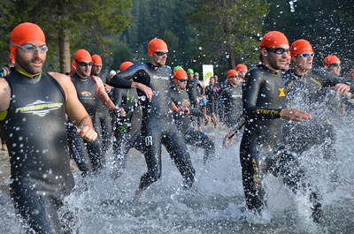 Donner Lake Triathlon 2014 Olympic and Half Swim
