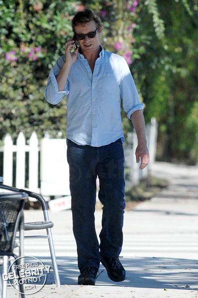 Simon Baker Walks and Talks, LA