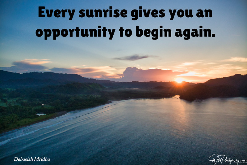 Sunrise is an opportunity