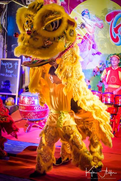 Lion dancer.