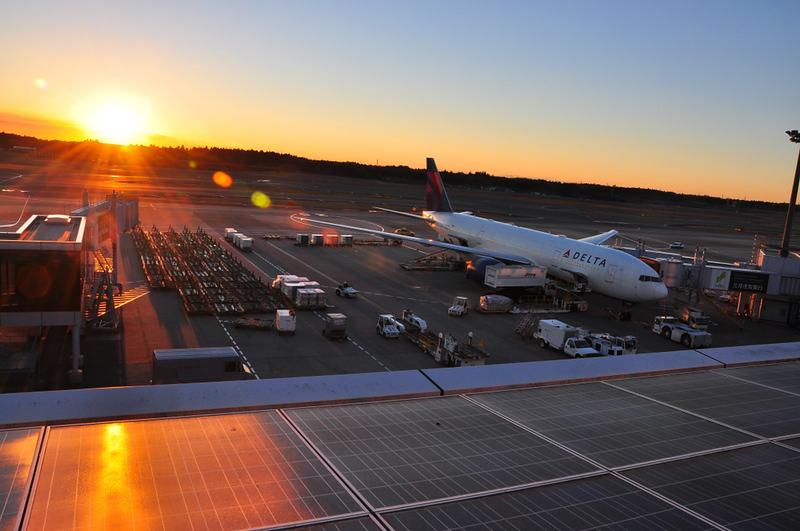 Sunset at Narita