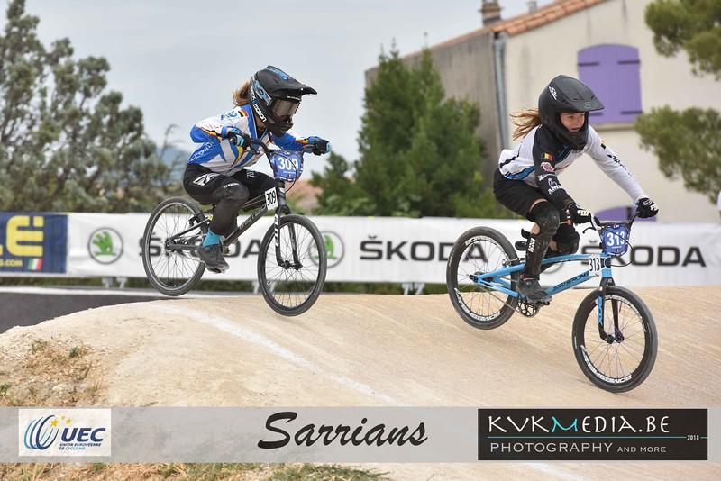 UEC Sarrians +13yr (kwart, halve, Finale en podium)