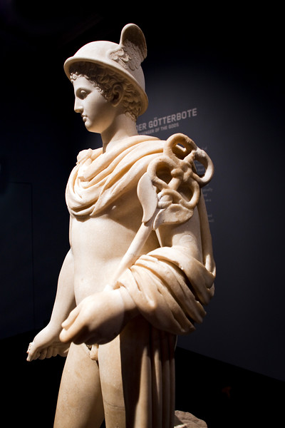 Hermes, Roman sculpture in marble, 2nd century, Pergamon Museum, Berlin, Germany