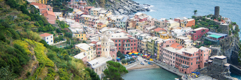 Vernazza is the most picturesque of the villages