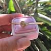 1.91ct Rustic Rose Cut Diamond Bangle in Yellow Gold 8