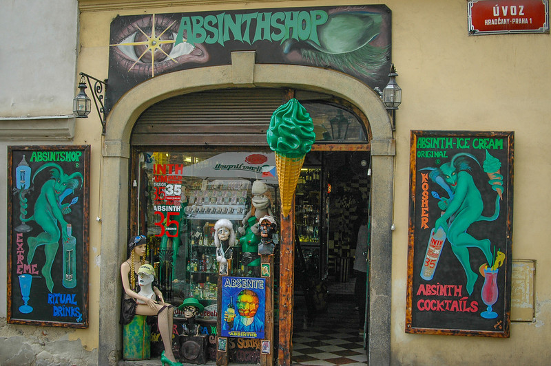 Prague Castle District: The Absinthe Shop