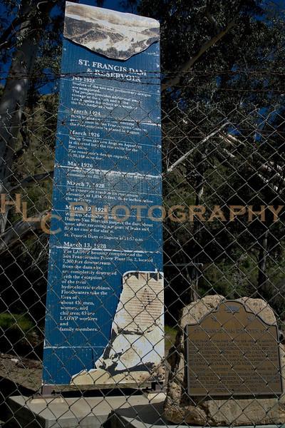 St. Francis Dam ruins, Santa Clarita, CA 3/28/09