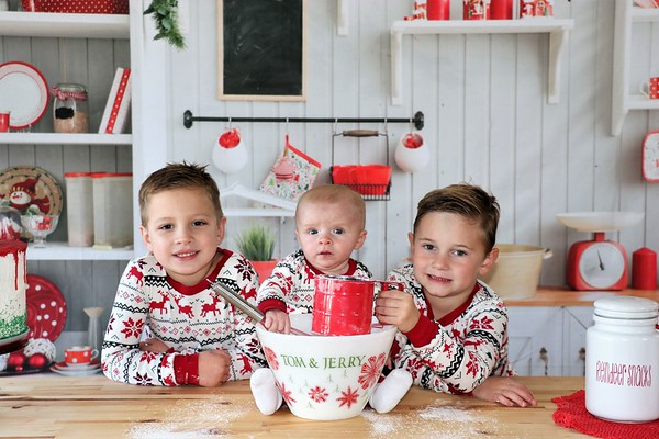Liam, Peyton, and Cayden | Christmas 2020