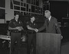 Mayor Hudnut at IPD Quarterly Awards, September 15, 1983, Img. 13, with Joseph McAtee