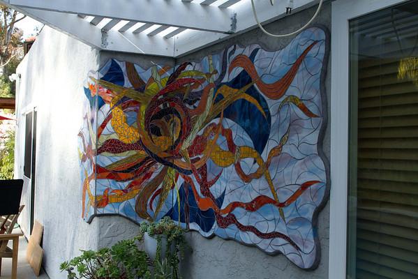 Mosaic Artwork Encinitas home 3-23-2013