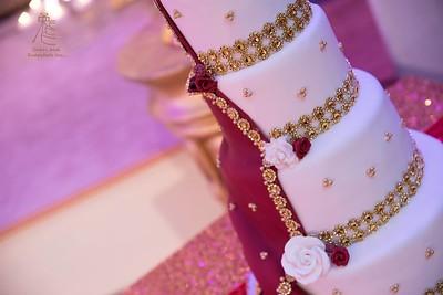 Dupatta (South Asian Veil/Scarf) Wedding Cake