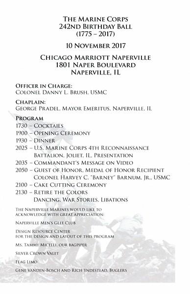 Marine Corps Ball - Naperville, Illinois - November 10, 2017
