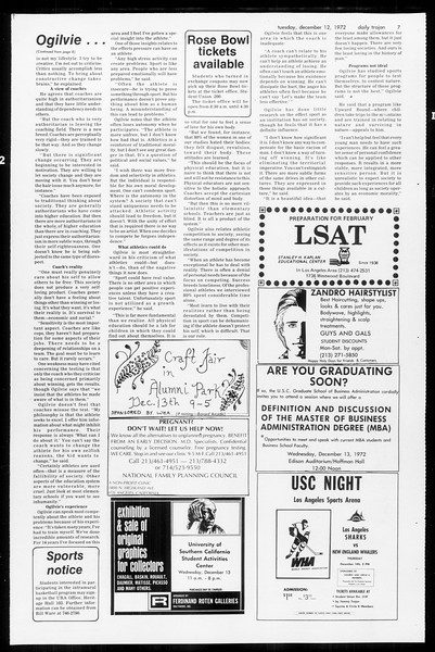 Daily Trojan, Vol. 65, No. 55, December 12, 1972
