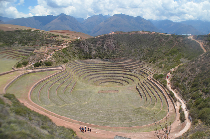 circular agricultural terraces in chinchero