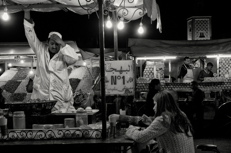 Tea stall at the Djemaa El Fna.