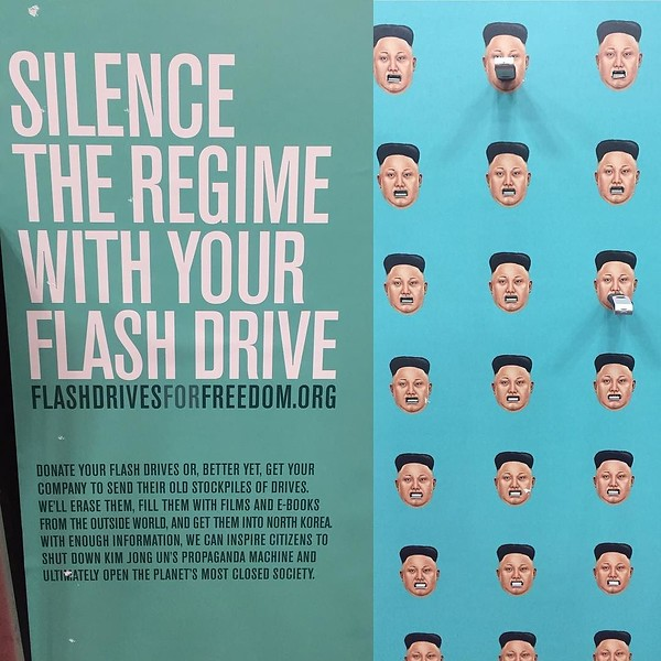 Shut down Kim Jong Un by donating your used flash drive at #Sxsw. They're the #1 tool used to get information into North Korea.