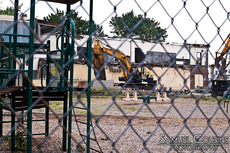 Demolition of the old Adams school. I went to kindergarten there!