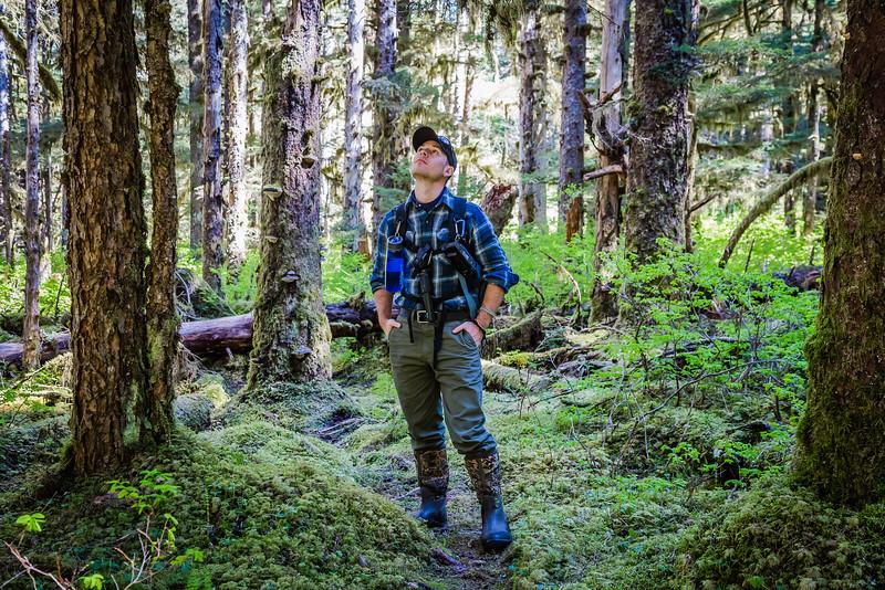 David Stock hiking in Glacier Bay National Park in Alaska