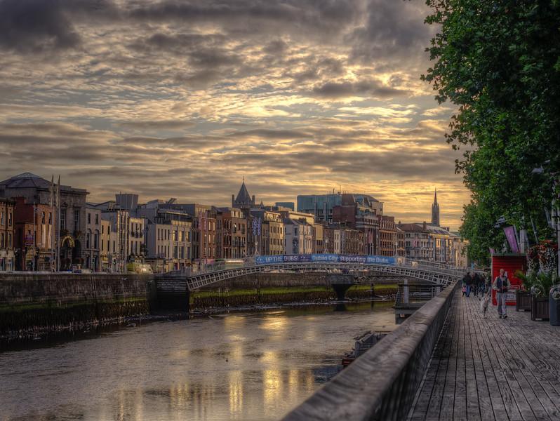 Sunset on the River Liffey