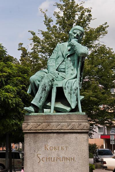 Zwickau, Schumanndenkmal am Hauptmarkt (1901)