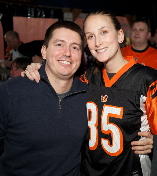 Brian Mann and Melissa Becker of Ft. Thomas  at Jerzees for the Bengals game Saturday