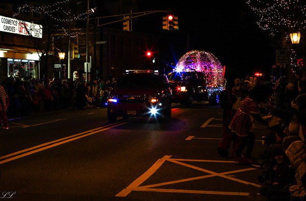 Park Ridge FD in Westwood Holiday Parade 2013