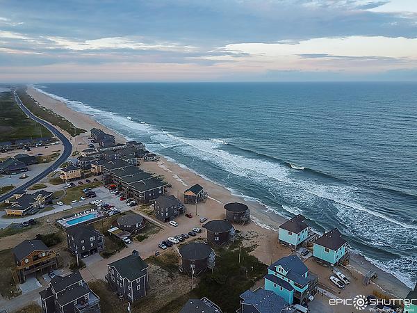 May 17, 2021 Mid Tide, Buxton, North Carolina, Drone Photography