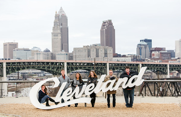 Cleveland Winter Family Portrait Session