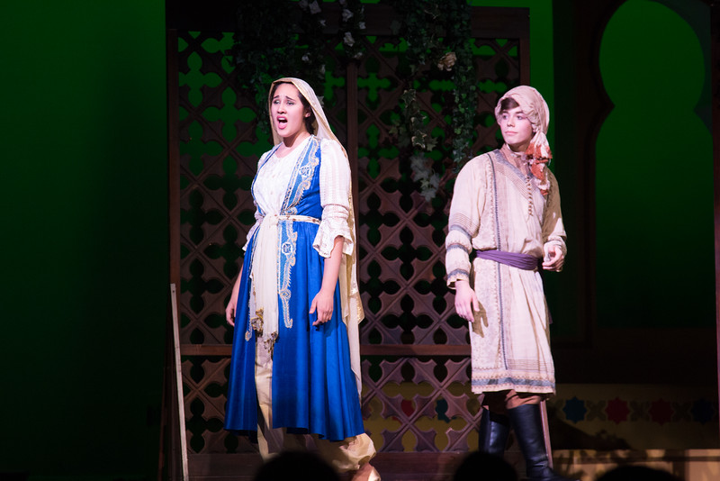 """The Caliph and Marsinah (""""Stranger in Paradise"""") -- Kismet, Montgomery Blair High School spring musical, April 15, 2016 performance (Silver Spring, MD)"""