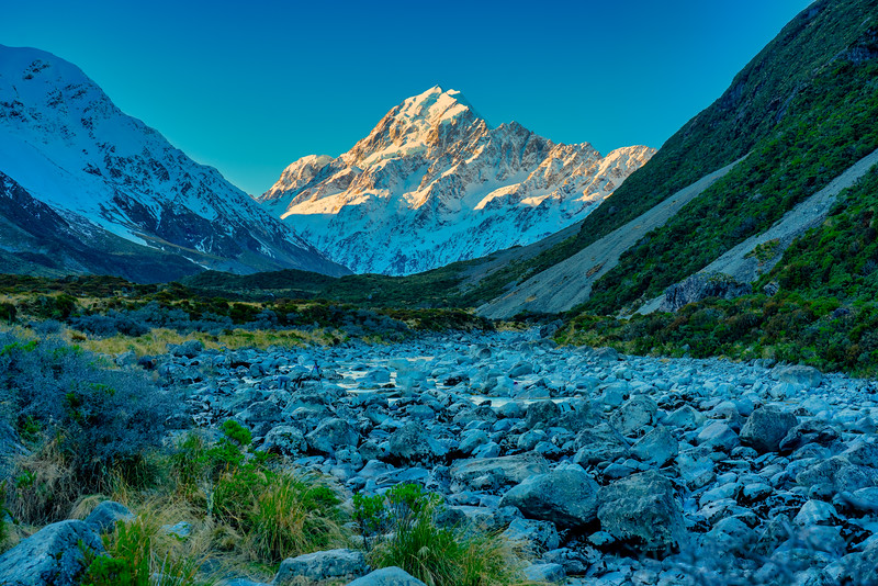 Mt. Cook from Hooker Valley.