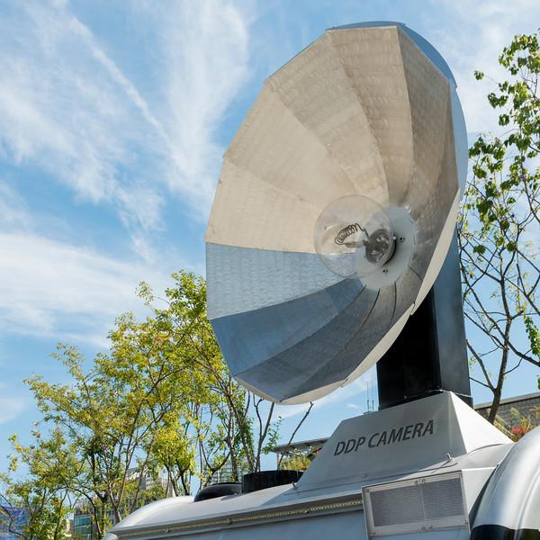 Camera Satellite Dish, DDP Camera, Dongdaemun History and Culture Park,, Seoul, South Korea